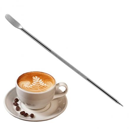 Stainless Steel Fancy Coffee Art Pen Coffee Pull Needles F Cappuccino Cafe Tool (HHIHE-536939)