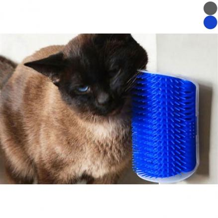 Pet Cat Self Groomer Grooming Tool Hair Removal Brush Corner Massage Comb Toy (HHI-542662)