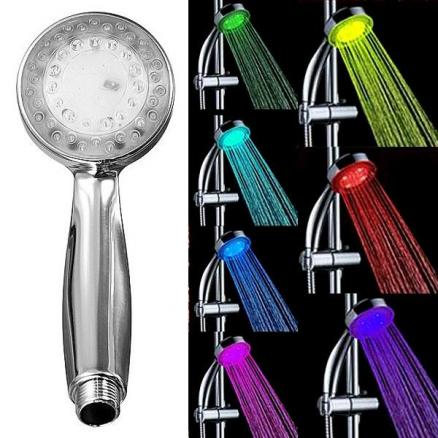 7-Color Random Changing Hydroelectric Generation LED Shower Handheld (HHI-503699)