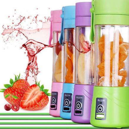 A Key Button USB Portable Juicer Cup Personal Electric Juicer 400ml Water Bottle (HHI-532604)