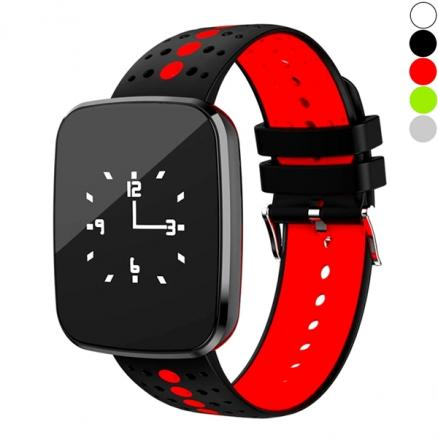 V6 Smart Watch IP67 0.96'' Square Smart band Heart Rate Blood Pressure Fitness (E-539491)
