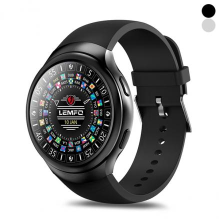 LEMFO LES2 Smart Watch Android 5.1 1GB + 16GB Heart Rate Monitor GPS WIFI Watch (E-541742)