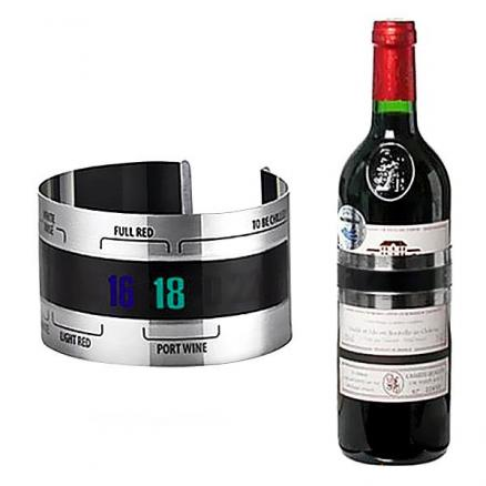 Stainless Steel Wine Bracelet Thermometer with LCD Display (HKI-499938)