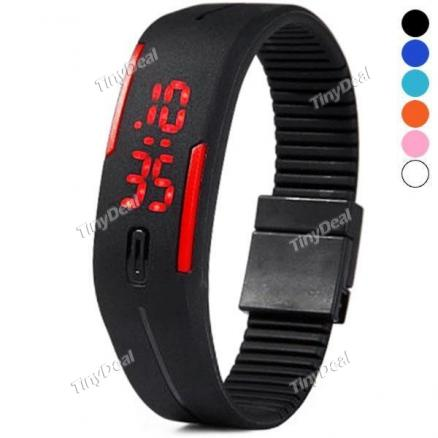 New Silicone Bracelet Electronic Digital LED Sport Wrist Watch (WWT-357380)