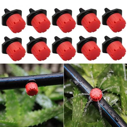 10pcs Adjustable Irrigation Drippers Sprinklers Emitter Drip Watering System (HHI-543329)