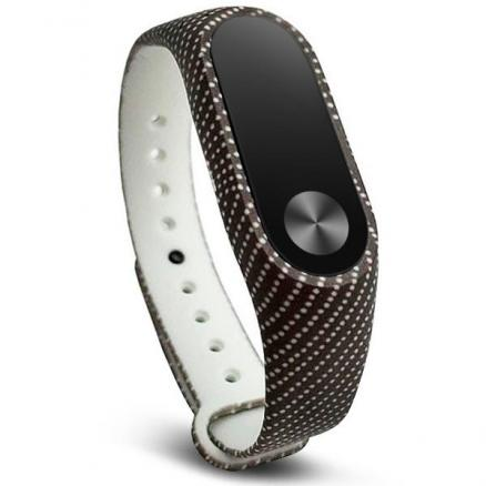 Replaceable Black with White Dots Strap Wristband for Xiaomi Miband 2 (E-517070)