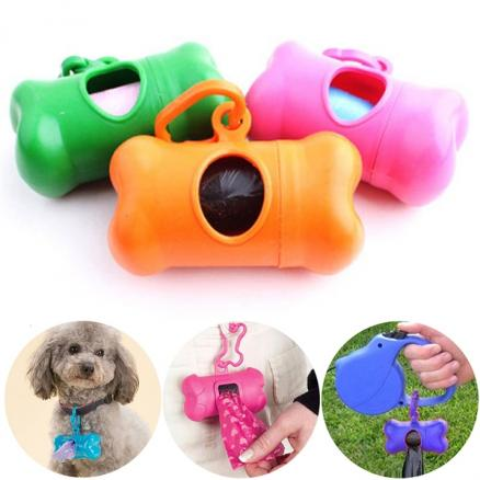 1/5/10/20 pcs Bone-shaped Pet Dog Puppy Waste Garbage Bags Dispenser (HHI-524872)