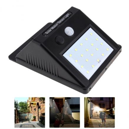 5W IP65 Waterproof Solar Power 20-LED PIR Motion Sensor Outdoor Wall LED Light (HHI-544740)