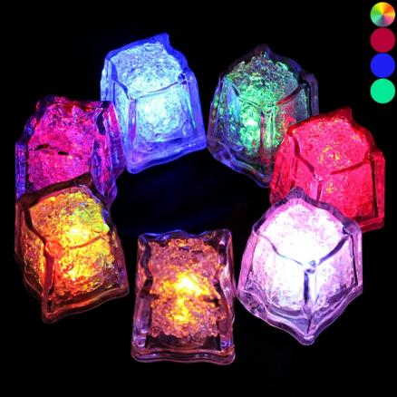 Colorful Ice Cube Light Flashing Multi Color Liquid Sensor Light (HHI-521539)
