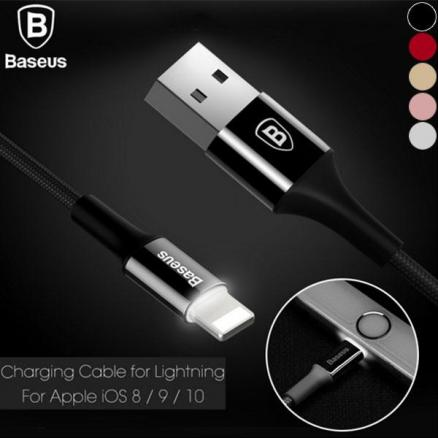BASEUS Metal Cable w/ Indicator 8Pin 2A Fast Charging/ Data Sync (E-528455)