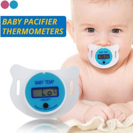 Baby Nipple Thermometer Medical Silicone Oral LCD Digital Thermometer (HHICB-552835)
