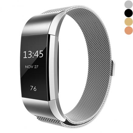 1/2/4 pcs Fitbit Charge 2 Stainless Steel Milanese Replacement Strap (EWT-532930)