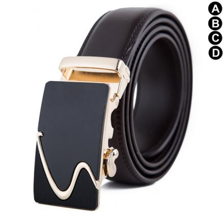 Men's Genuine Leather Ratchet Dress Belt with Automatic Buckle 35mm Wide (HHI-541847)
