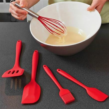 Silicone Kitchen Utensil Set Heat Resistant Cooking Tools for Baking BBQ (HKI-544938)