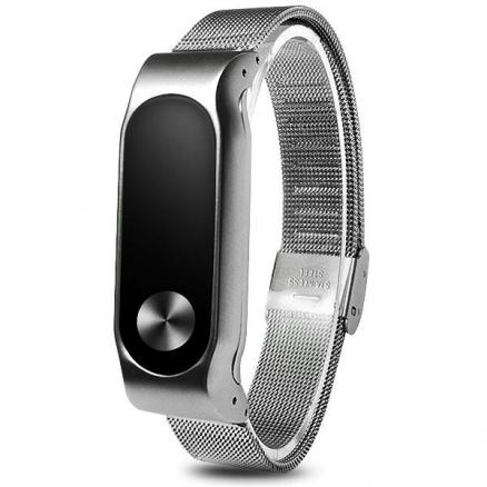 Replaceable Net Stainless Steel Band Wrist Strap for Xiaomi Miband 2 (E-517327)