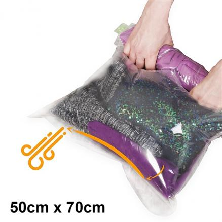 Travel Luggage Clothes Storage Bag Compression Bag - No Vacuum or Pump Needed (HHI-544688)