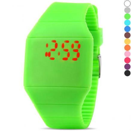 Gum Strap Touch Screen Unisex LED Digital Watch (WUS-166536)