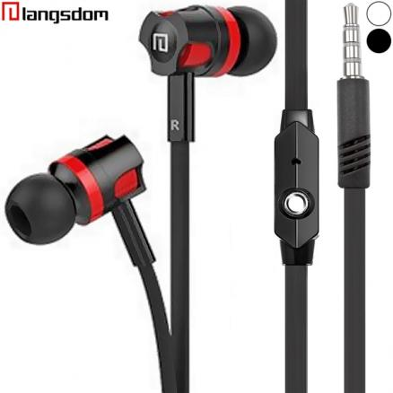 Langsdom In-ear Stereo 3.5mm Noise Isolation Earbuds with Mic (EEP-493517)