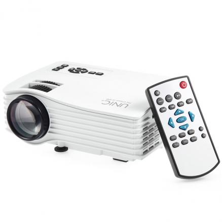 UNIC UC36 Simplified LED Micro 1000 Lumens Projector for Home (OPJ-522979)