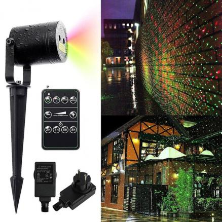 Landscape Projector Lights 4.5m / 15ft Red & Green Waterproof Star Laser Light (LP-L1145RGS)