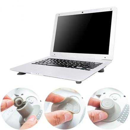 Portable Anti-Slip Laptop Heat Reduction Cooling Stand Foot Cup (E-524493)