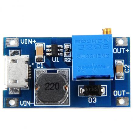2A Adjustable Booster Board DC-DC Step-up Module (EDT-433268)