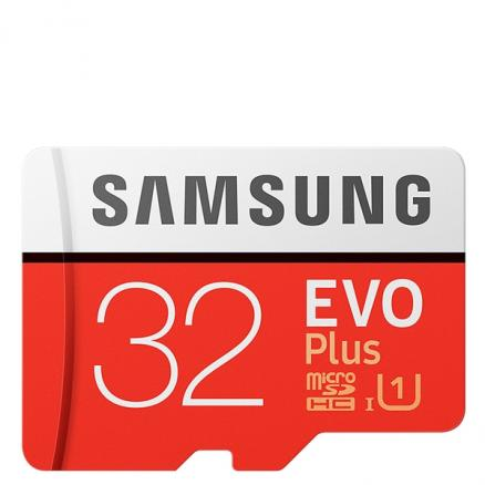 SAMSUNG 32GB EVO Plus Class 10 UHS-1 up to 95MB / s Micro SDHC Memory Card (EFM-530207)