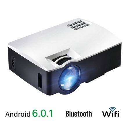 AKEY1 Plus LED Projector With WIFI Bluetooth Support 4K Video Full HD 1080P (ETATH-551753)