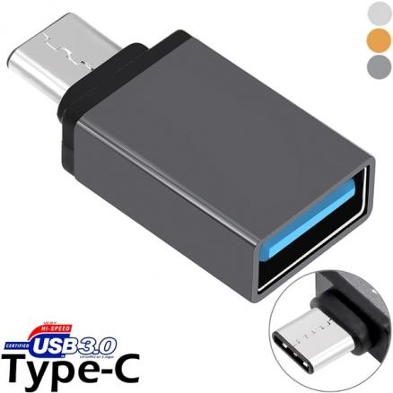 Metal Shell USB 3.1 Type-C to USB 3.0 Adapter f MacBook Smartphone (EPACB-505907)