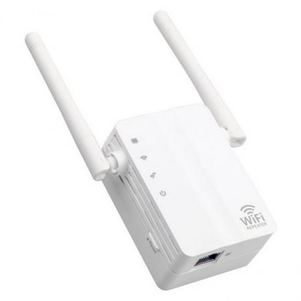 EU Plug WiFi Repeater Amplifier 300Mbps Wireless Wifi Signal Receiver Router (ECAHP-539430)