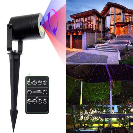 Landscape Laser Light 15ft Red & Blue Outdoor Waterproof Moving Star Light Show (LP-L1145RBA)