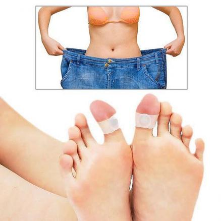 1 Pair of Silicone Magnetic Losing Weight Toe Rings (HBI-13397)