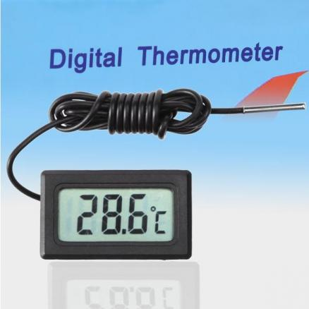 "1.4"" LCD Digital Thermometer - Black (HUI-26047)"