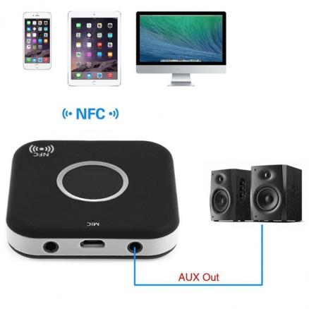 B7 NFC Bluetooth Wireless Double Audio Receiver 3.5mm Adapter (ECA-521152)