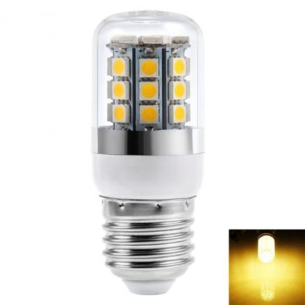 E27 220-240V 3W 270LM 27-LED SMD 5050 LED Warm White Corn Bulbs (HLT-521311)