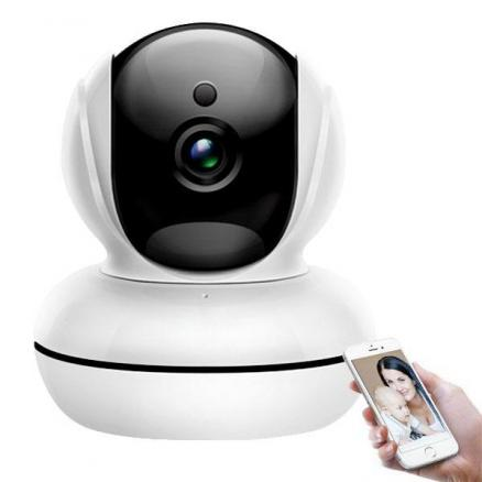 XM 1080P HD 2.0MP P2P PTZ 140° Wide Angle IP Camera with IR-CUT (SCM-521476)