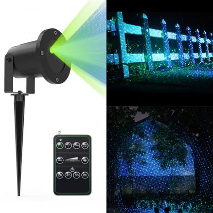 Landscape Projector Light 4.9ft Green & Blue Aluminum Laser Light Show (LP-L0015GBS)