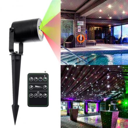 Landscape Projector Lights 4.9ft Red & Green Static Waterproof Star Laser Light (LP-L1015RGA)