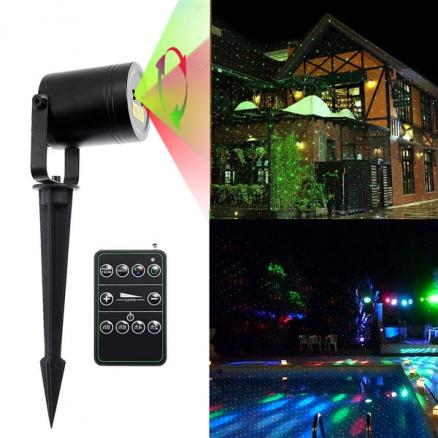 Landscape Projector Lights 15ft Red & Green Moving Waterproof Star Laser Light (LP-L1145RGA)