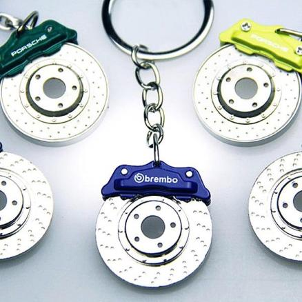 1/2/4/6/10 pcs Disc Brake Style Key Ring Car Keychain Key Chain -Color Assorted (RTH-369830)