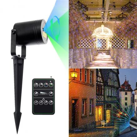 15ft Landscape Projector Lights Blue Green Moving Laser Light RF Wireless Remote (LP-L1145GBA)