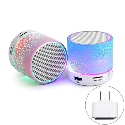 2016 New LED Mini Portable Wireless BT 4.0 Speaker w/ OTG Adapter (KB-516339)