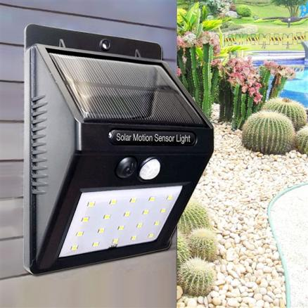 1/2/4 pcs Solar Wall Lamp MZ-T1 20-LED Auto ON/OFF Night Light (HLT-524784)