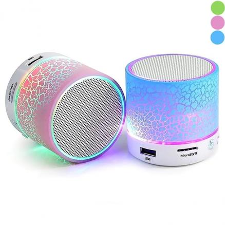 LED Mini Bluetooth 4.0 Speaker w/ FM TF Hand-free Call f Smartphone (HHITH-512243)