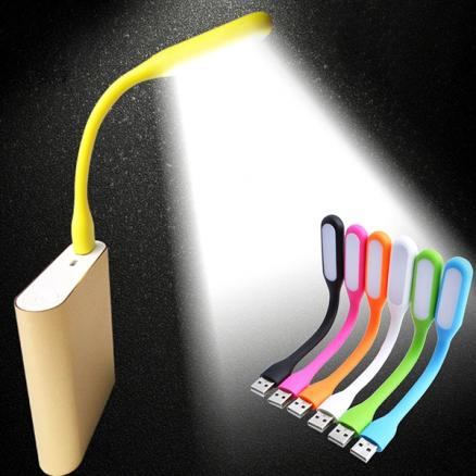 1/2 pcs Portable USB LED Light Bendable Lamp for Power Bank & Computer (HLT-524732)
