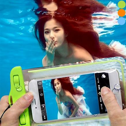 6 inch Fluorescence Transparent Waterproof Bag f Smartphone (EPACB-511214)