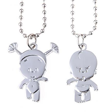 Fashioned Baby Style Pendant Couple Necklaces Jewelry for Lovers (NAF-151854)