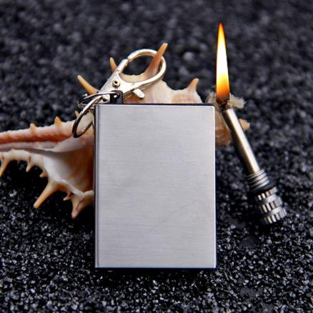 1/10 pcs Bottle Shaped Survival Tool Flint Fire Starter Lighter (HUI-112592)