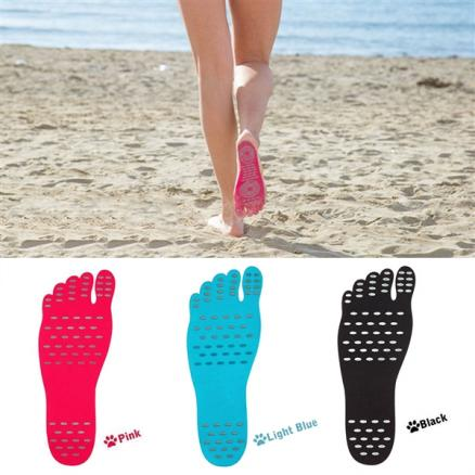 Beach Insoles Barefoot Adhesive Foot Pad Anti-skid Beach Invisible Shoes f Beach (S-531690)