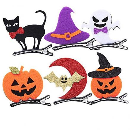 1pc Halloween Hairpins Children Hair Clips Headdress Halloween Costume Accessory (TTH-538687)